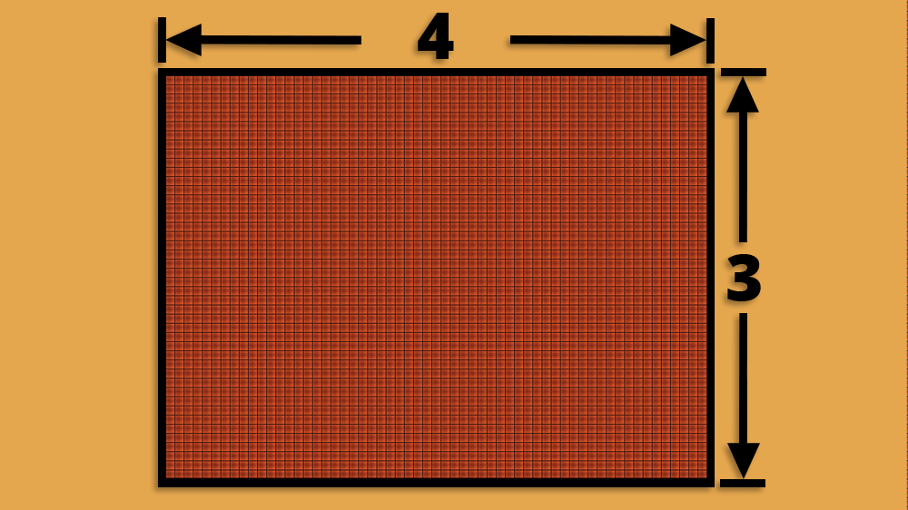 4:3 TV Aspect Ratio Diagram
