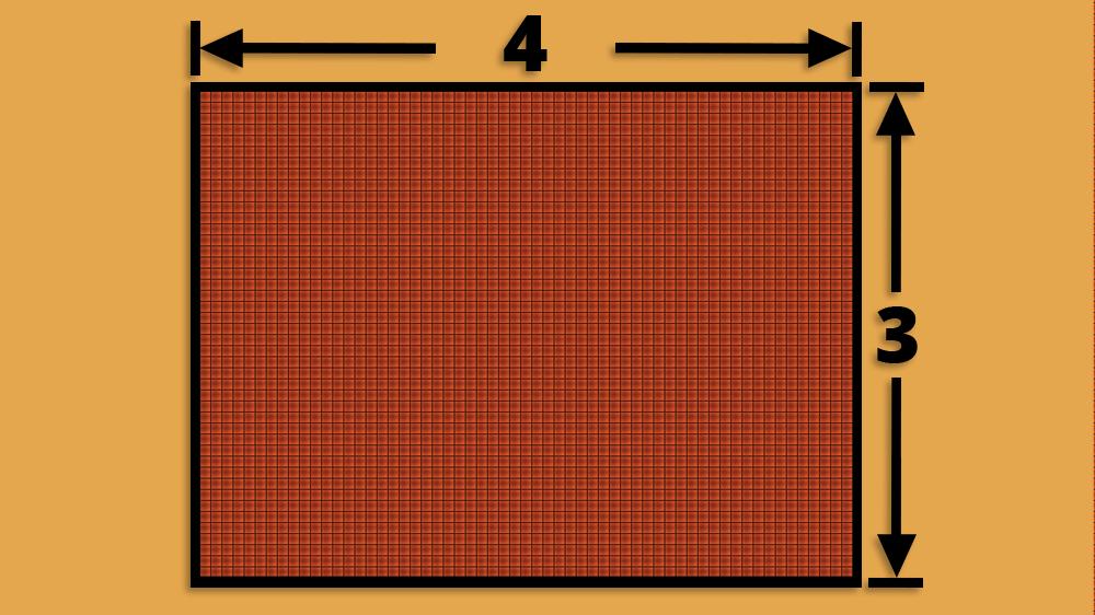 4:3 TV Aspect Ratio Diagram