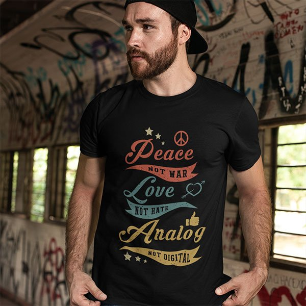 Funny Analog Not Digital T-Shirt For Audiophiles