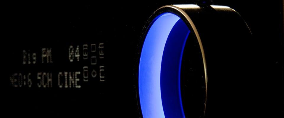 AV Receiver Listening Modes Explained - front display of an AV receiver