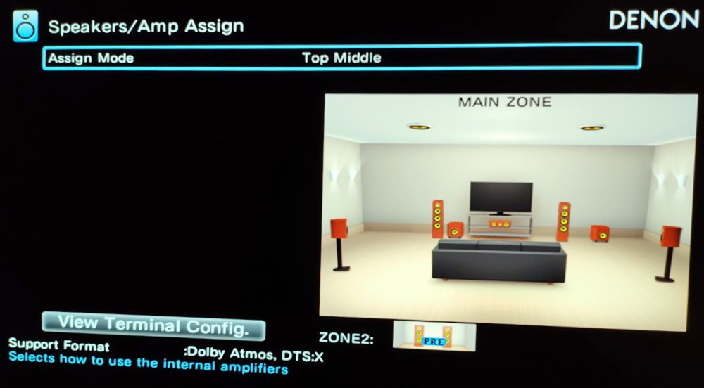 Selecting Dolby Atmos Speakers In An Av Receiver Setup Menu