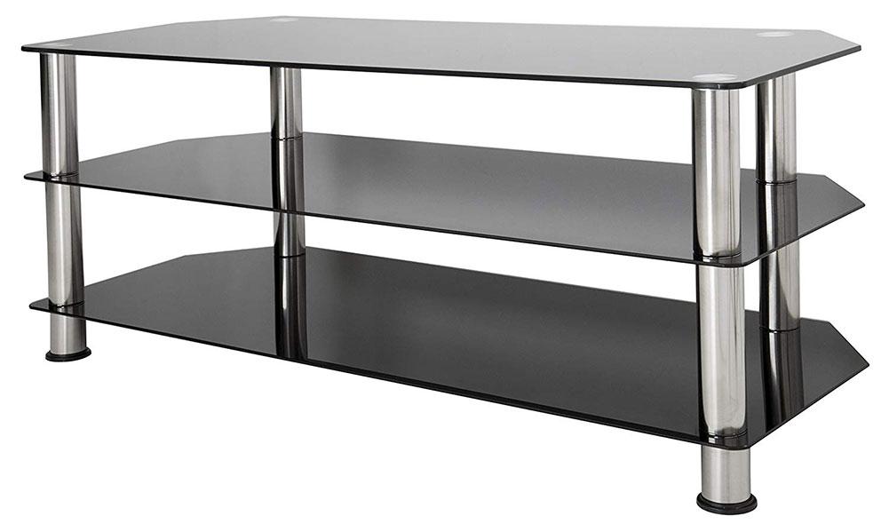 Avf Sdc1140-A Black Glass Tv Stand