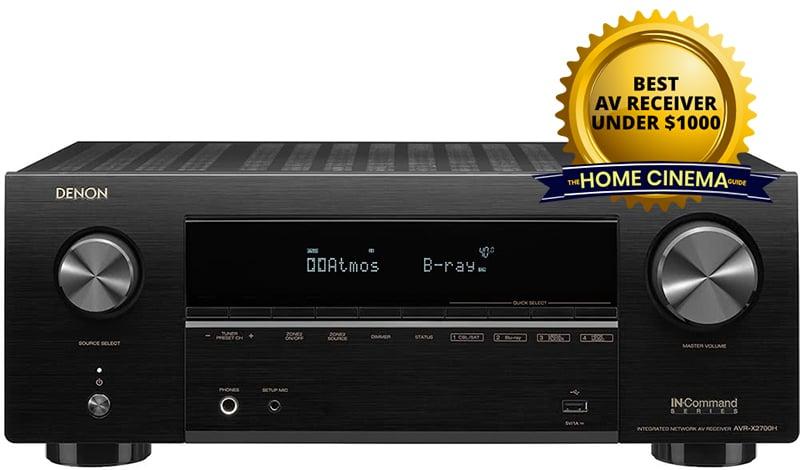 Best Av Receiver Under $1000: Denon Avr-X2700H 7.2-Ch Av Receiver