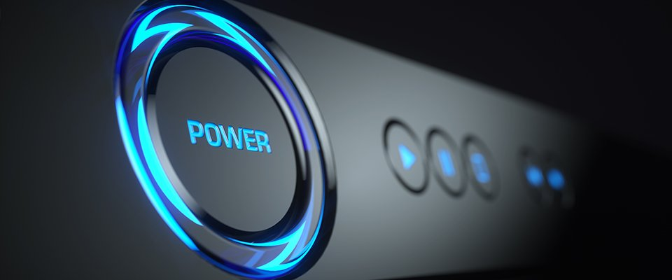 Choosing the Best Blu-ray Player: Buying Guide & Reviews - power button of a Blu-ray player