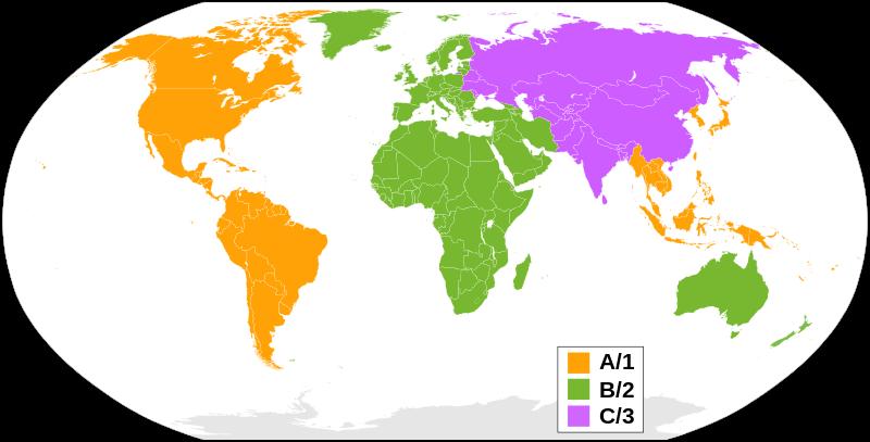 Blu-Ray Regions Around The World
