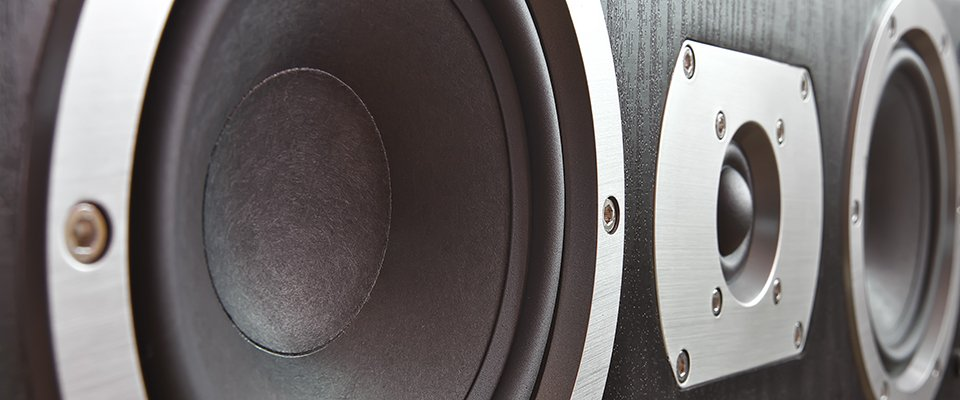 Close Up Of A Home Theater Center Speaker