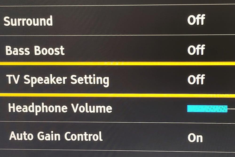 Turning Off The Tv Speaker In The Audio Menu