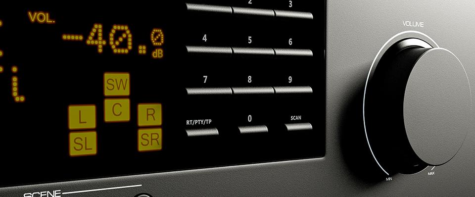 Denon AVR-S AV Receivers Compared - Front of an AV receiver