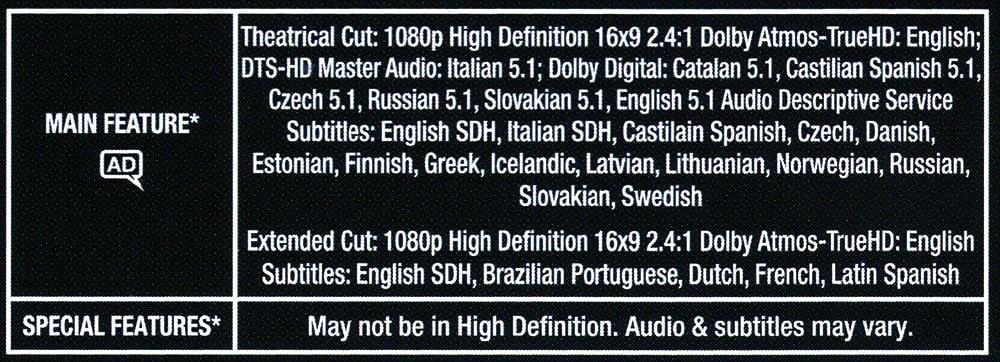 Dolby Atmos Codec On A Blu-Ray