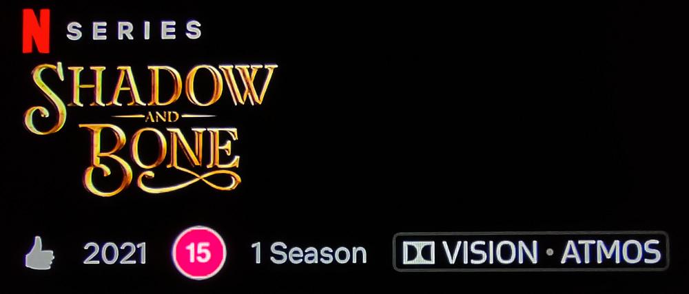 Dolby Atmos soundtrack on Netflix