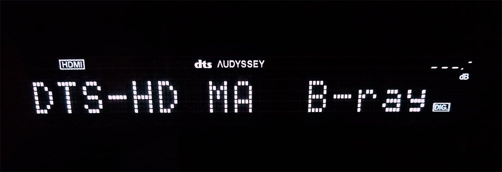 DTS-HD Master Audio on an AV receiver front display