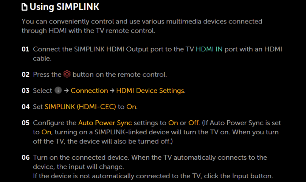 How To Enable Simplink In Lg Tv Settings Menu