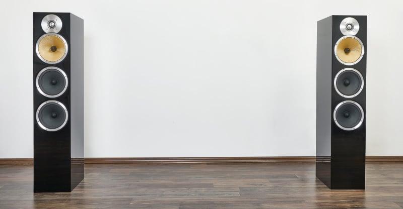 Floorstanding Speakers In A Room