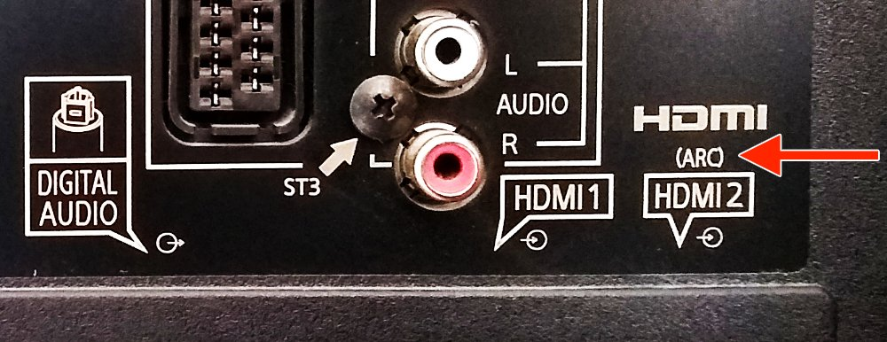 HDMI ARC Connection on the Rear of a TV