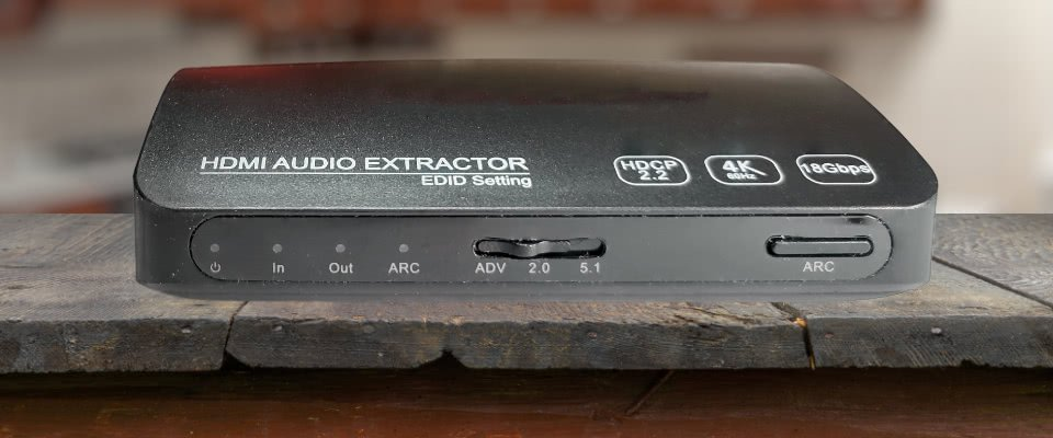 Hdmi Audio Extractor On A Table