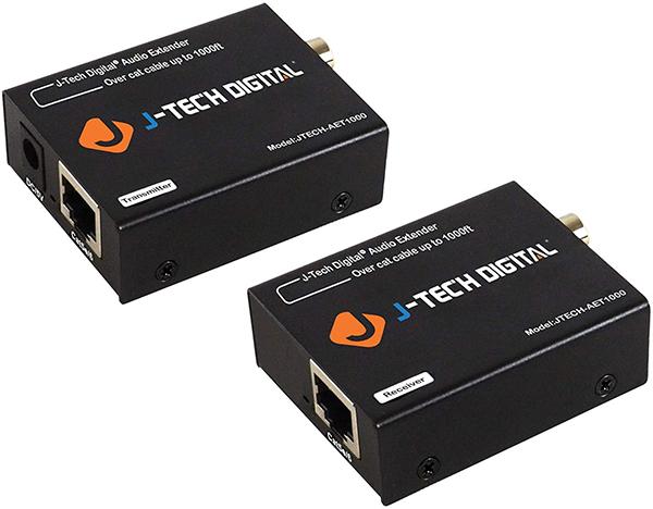 J-Tech Optical &Amp; Coaxial Digital Audio Cat5E/6 Extenders