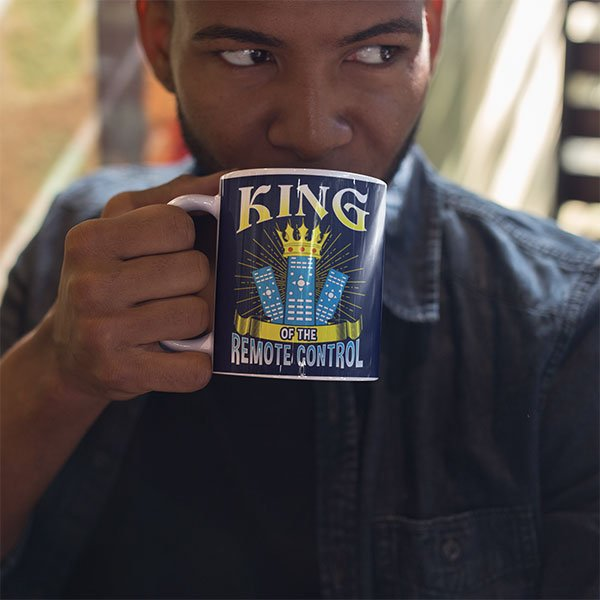 Funny King Of The Remote Control Mug For Tv Lovers