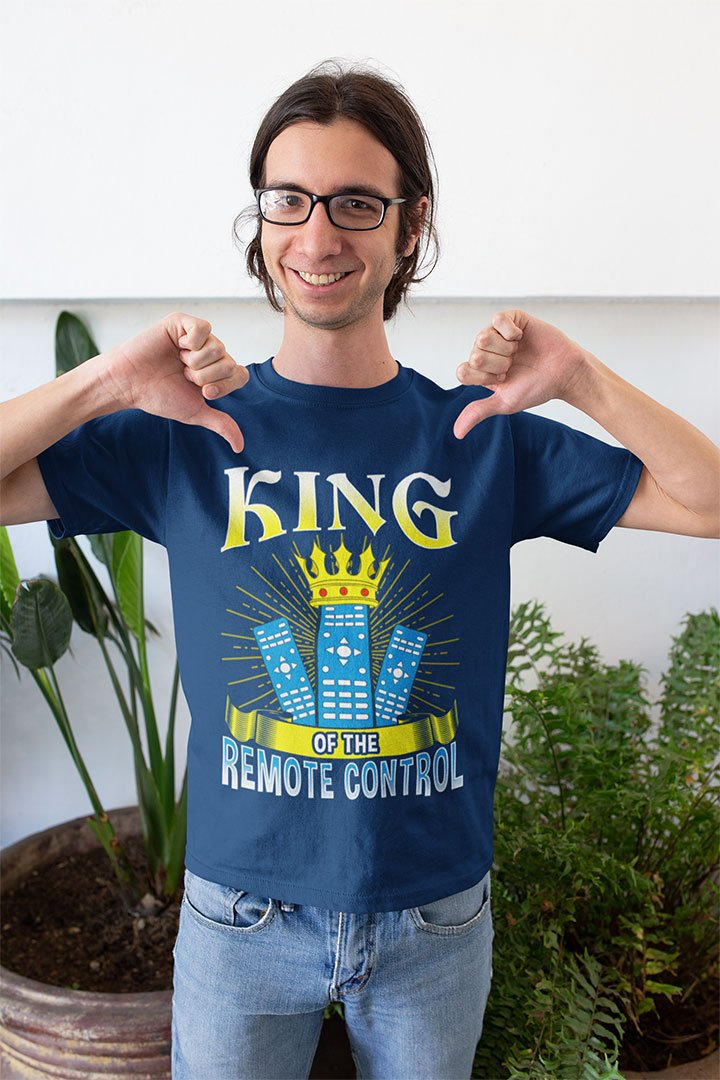 Funny King of The Remote Control T-Shirt for TV Fans