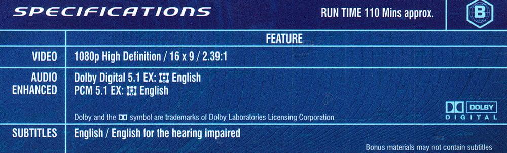 5.1 Lpcm Audio Codec On A Blu-Ray Disc