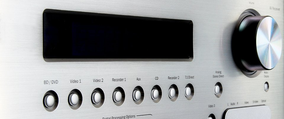 Marantz AV Receivers: Comparing the SR & NR Series Features - front view of an amplifier