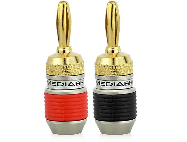 Mediabridge 24K Gold-Plated Banana Plugs