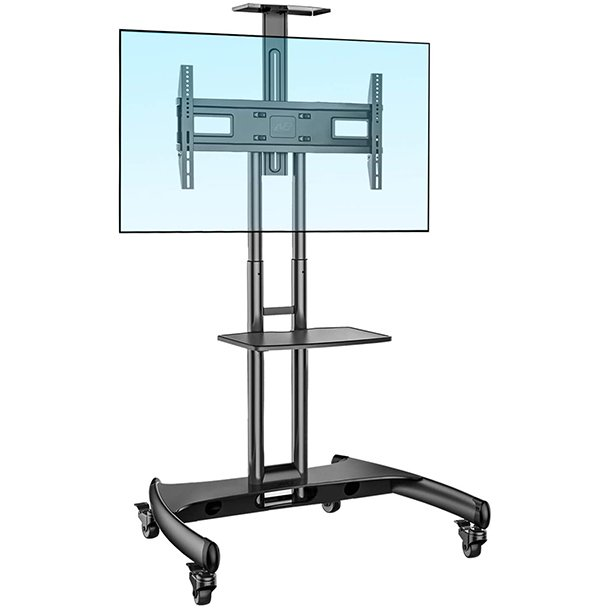 Nb North Bayou Mobile Tv Cart Tv Stand With Wheels