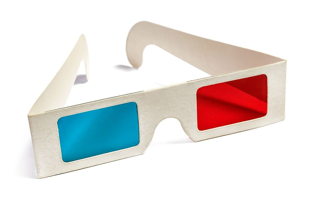 Old-style 3D glasses