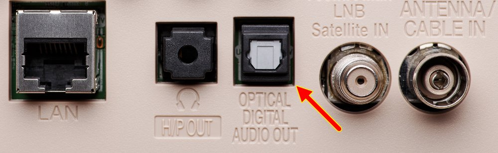 Optical Digital Audio Out On The Rear Of A Tv