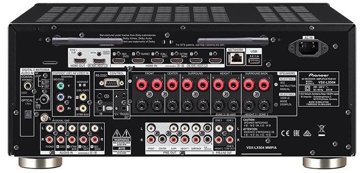 Pioneer Elite Vsx-Lx504 9.2-Ch Av Receiver - Rear View