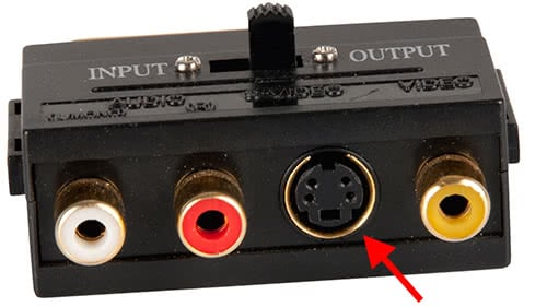 Video Adapter With A 4-Pin S-Video Connection