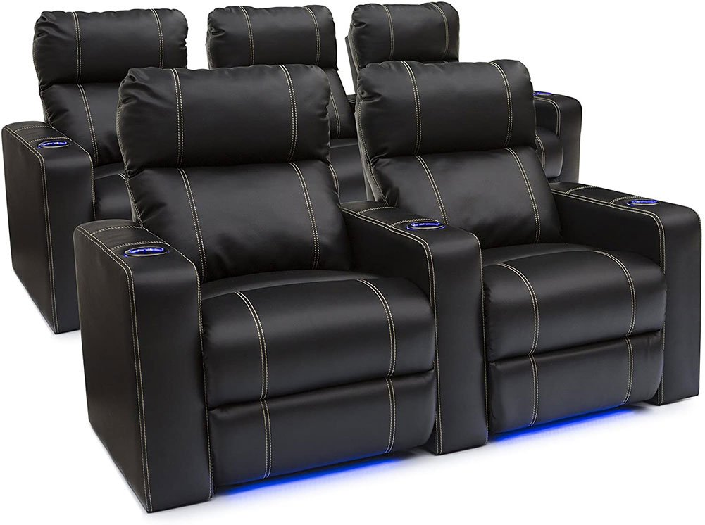 Seatcraft Dynasty Leather Gel Home Theater Seating