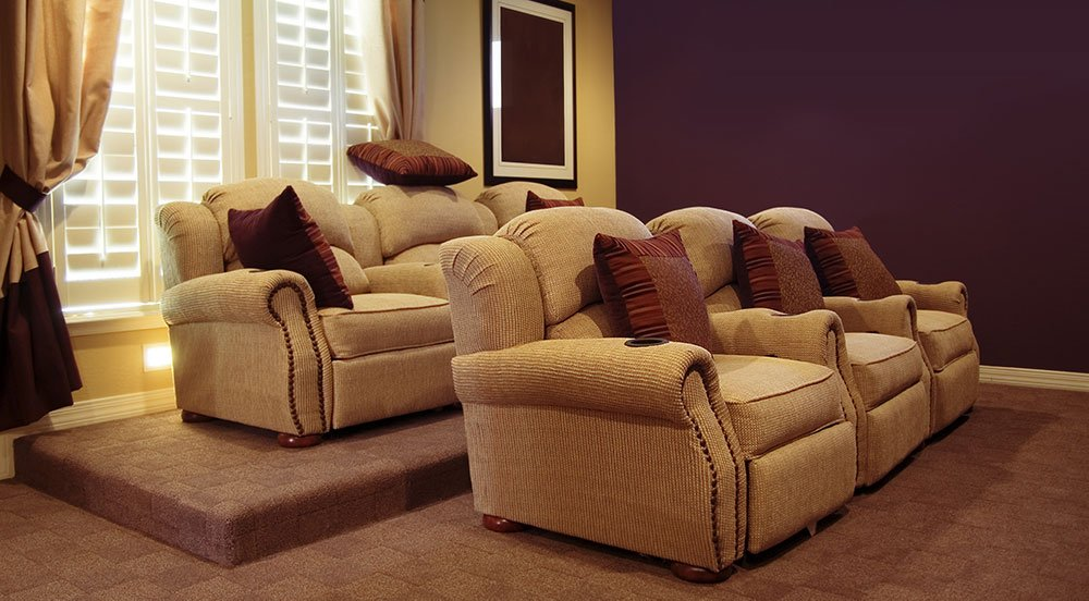 Comfortable Seating In A Home Theater