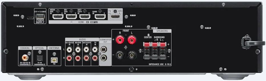Sony Str-Dh590 7.2-Ch Av Receiver - Rear View