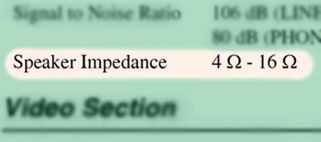 Matching Amplifier Impedance Ratings