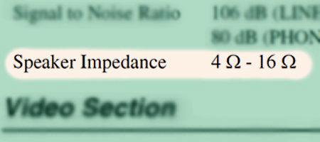 Speaker Impedance Range