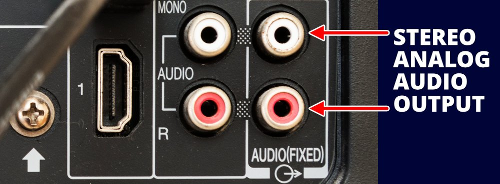 Stereo Analog Audio Output On The Rear Of A Tv