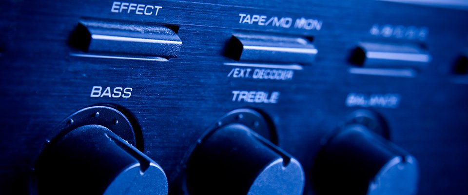 Stereo Receivers And Amplifiers In Your Home Theater System - Front Controls Of An Amplifier
