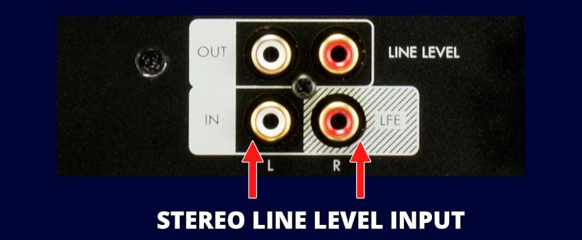 SVS SB-1000 Subwoofer Dual Low-Level Input Connections