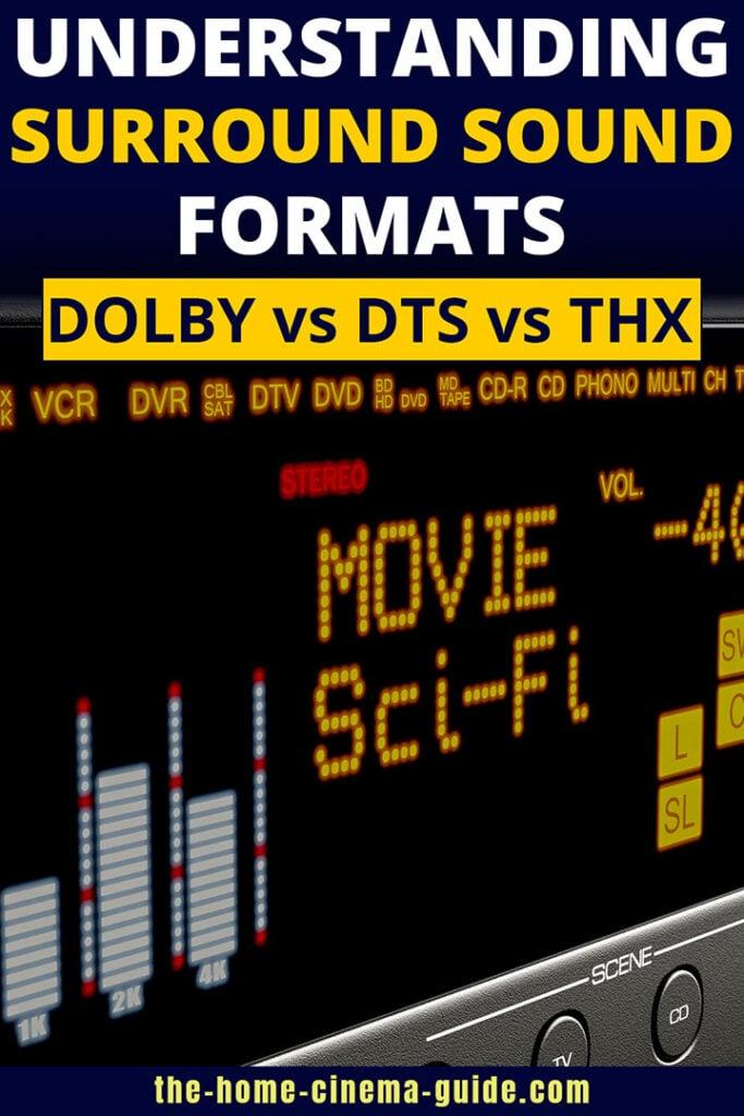 Understanding Surround Sound Formats: Dolby vs DTS vs THX