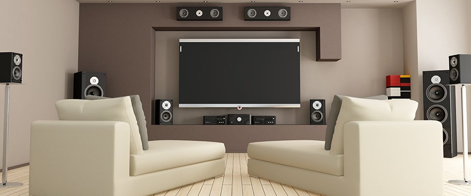 Surround Sound Speaker Placement for 5.1 & 7.1 Home Theater Systems - modern home theater room