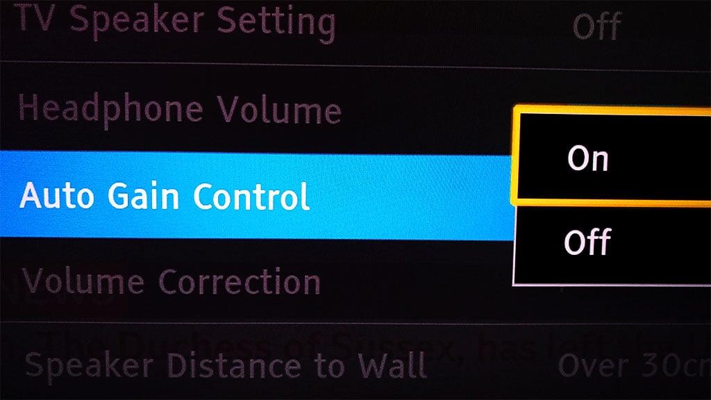 Auto Gain Control Setting In Tv Sound Menu