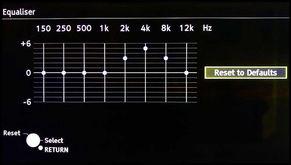 Tv Graphic Equalizer - Dialogue Clarity