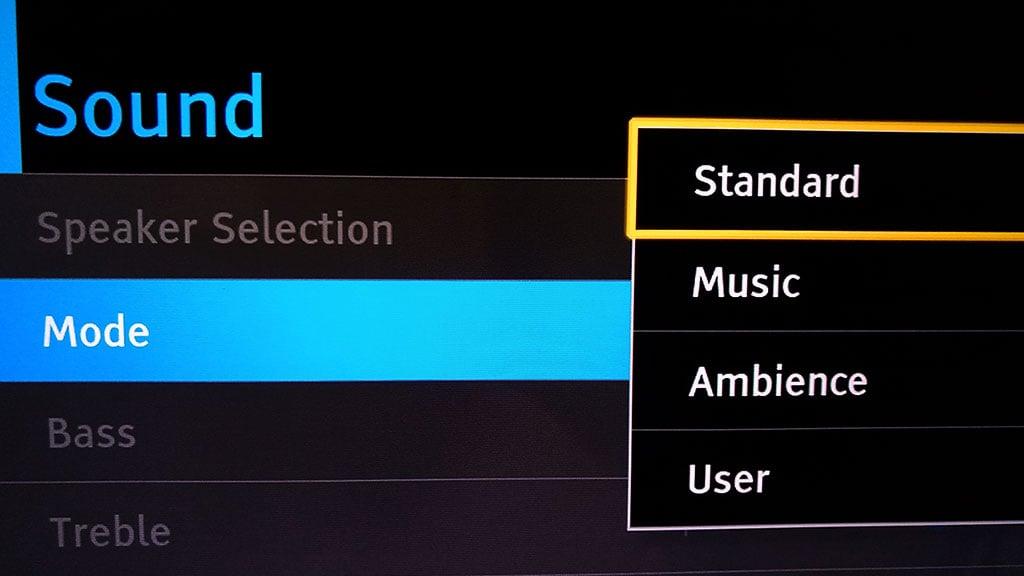 Sound Mode Setting In Tv Sound Menu