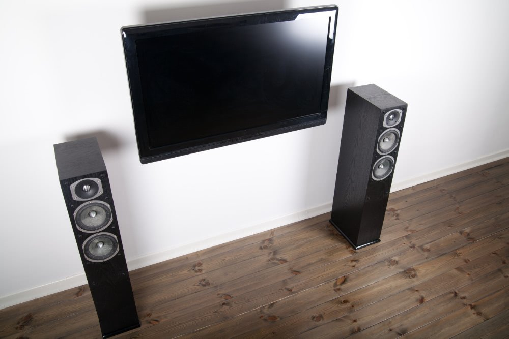 TV with a speaker system