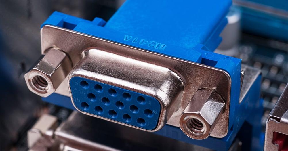 Blue VGA connector