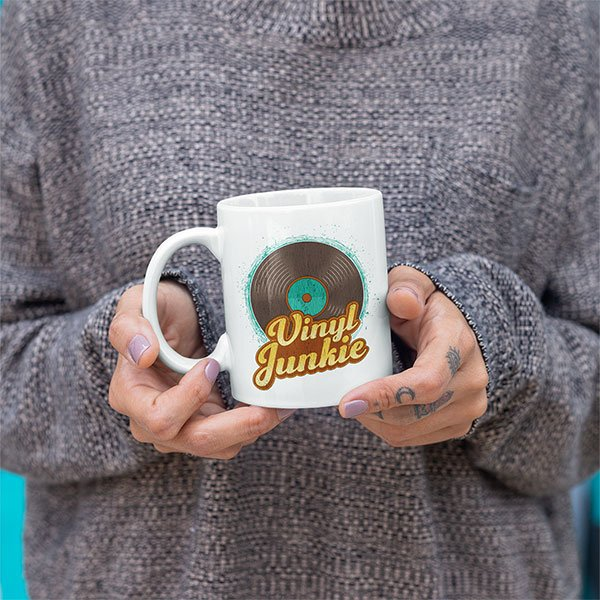 Vinyl Junkie Mug For Vinyl Record Collectors