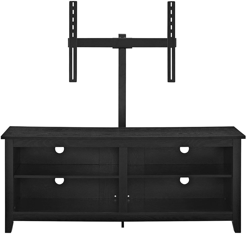 Walker Edison Wren Classic 4 Cubby Tv Stand With Mount