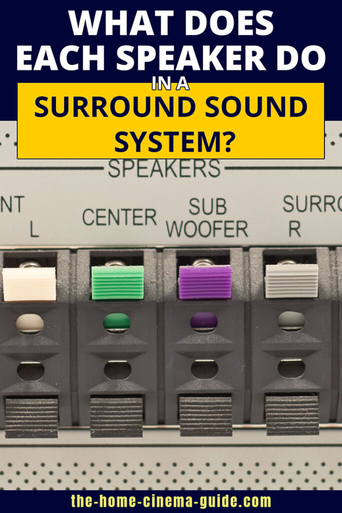 What Does Each Speaker Do In A Surround Sound System?