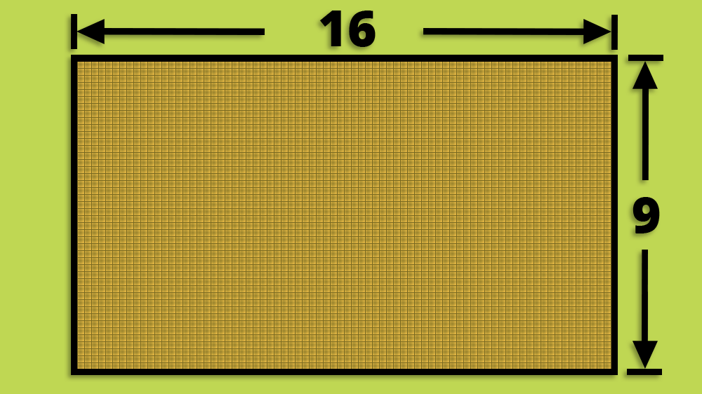 16:9 Widescreen TV Aspect Ratio Diagram