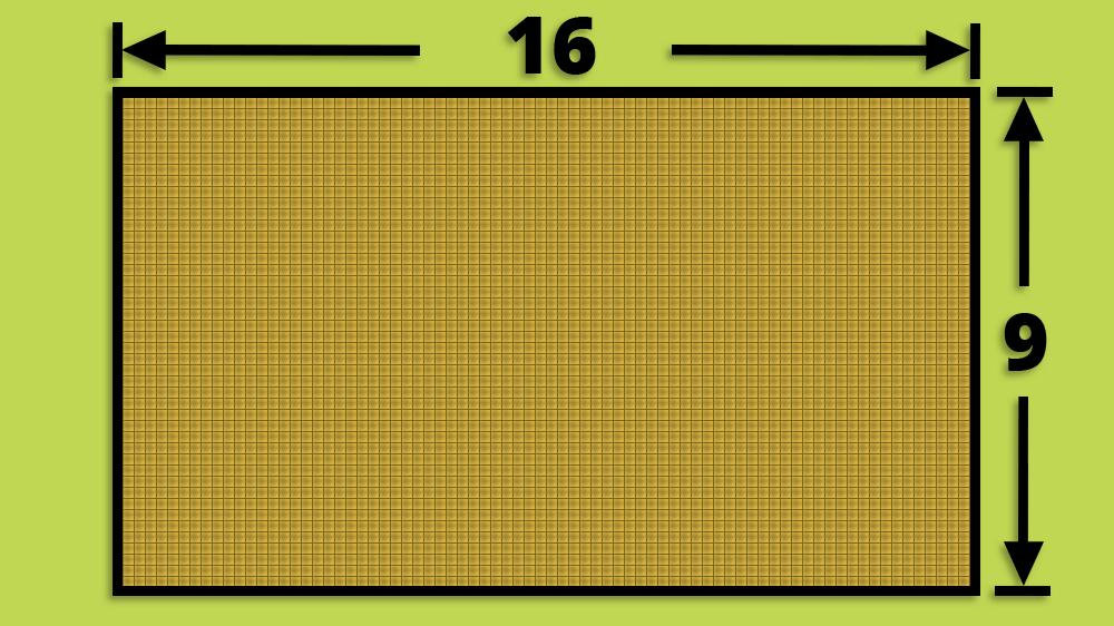 16:9 Widescreen TV Aspect Ratio